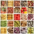 Italian food market collage — Stok fotoğraf