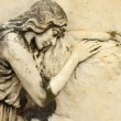 Beautiful antique cemetery relief with sleeping angel, Italy, Eu — Stock Photo