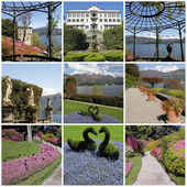 Historic Villa Carlotta on lake Como ( Lago di Como , also knows — Foto Stock