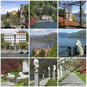 Coleção de imagens do lago de como, lombardia, itália, europa — Foto Stock