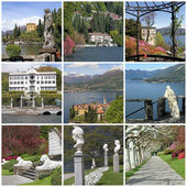 Collection of images of lake Como , Lombardia, Italy, Europe — Stock Photo