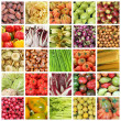 Stock Photo: Collection of images of vegetables and fruits from farmers mark