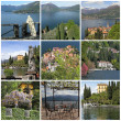 Collection of images  from Varenna  -  beautiful small town on — Foto Stock