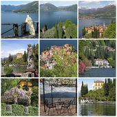 Kolekce obrazů z varenna - krásné městečko na — Stock fotografie