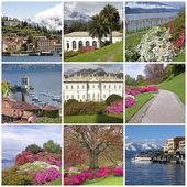 Coleção de imagens de bellagio - chamado a pérola do lago c — Foto Stock