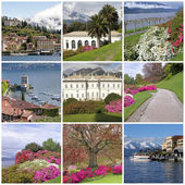 Collection of images from Bellagio - called the pearl of Lake C — Stock Photo