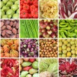 Collage with vegetables and fruits from farmers market in Italy — Stock Photo #30339291