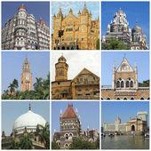 Bombay landmarks collage, India — Stock Photo