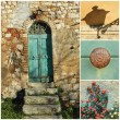 Rustic doorway collage, Tuscany, Italy, Europe — Stock Photo