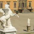 Antique Pegasus sculpture in Boboli Garden and Pitti Palace at — Stock Photo #32739953