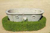 Antique stone tub with lion in historic Gardens of Boboli, Flore — Stock Photo