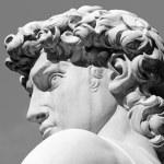Постер, плакат: Head of David sculpture by Michelangelo