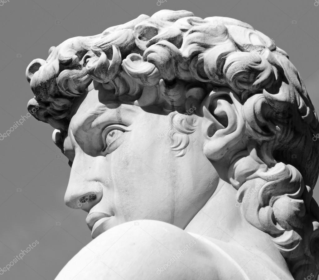 大卫的头部由米开朗基罗