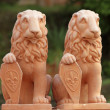 Heraldic lions sculptures — Stock Photo
