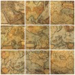 Stock Photo: Old maps collage