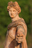 Classic men' s sculpture in tuscan terracotta — Stock Photo