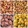 Collection of autumnal fruits backgrounds — Foto de Stock
