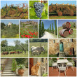 Fantastic tuscan countryside collage — Stock Photo #35217287