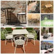 Elegant garden furniture collection — Stock Photo #35546481