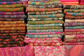 Pashmina shawls display — Stock Photo