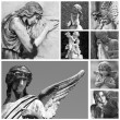 Cemetery angel collection — Stockfoto