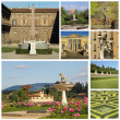 Foto Stock: Boboli Garden collage