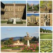 Boboli Garden collage — Stock Photo