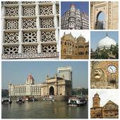 Collage of indian city Mumbai — Stock Photo