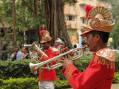 Wedding band of musicians in India — Foto Stock