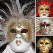 Stock Photo: Venetian carnival masks collection