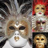 Venetian carnival masks collection — Zdjęcie stockowe