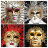 Venetian carnival masks collection — Photo