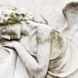 Angelic image on tomb on monumental cemetery — Stock Photo #38618459