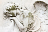 Angelic image on tomb on monumental cemetery — Stock Photo