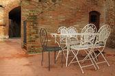 Decorative vintage metal garden furniture — Stok fotoğraf