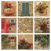 House facade collage — Stock Photo