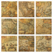 Old maps fragments — Stock Photo