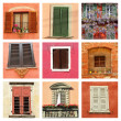 Lovely colorful old windows collage — Stock Photo #39382693