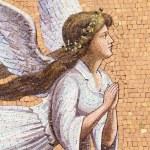 Antique angelic decoration — Stock Photo