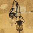Beautiful old fashion lamp on wall in — Stock Photo