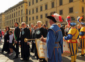 Mayor of Florence - during San Giovannis celebrations — Foto Stock