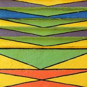Färgglada målade mönster — Stockfoto