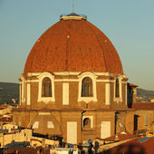 Dome of Medici Chapel at sunset light — Stock Photo