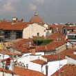 Scene with terracotta roofs of old houses — Stock Photo