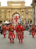 Florentine New Years parade — Stock Photo