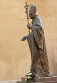 Estatua del Papa Juan Pablo ii — Foto de Stock