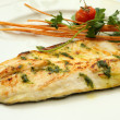 Grilled sea bass Fish Fillet plate — Stock Photo #45665313