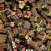 Black Liquorice Shooters candies — Stock Photo