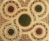 Ancient  marble inlay mosaic — Stock Photo