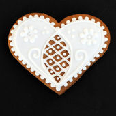 Heart shaped gingerbread cookie — Stock Photo